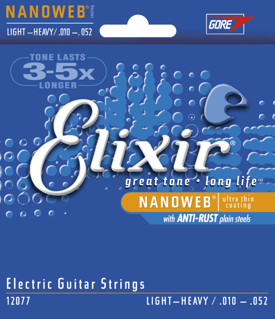 ELIXIR Cordes Electriques Nanoweb Jeu Light-Heavy 10-52