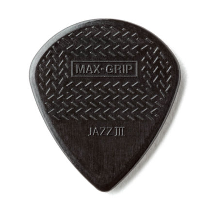 DUNLOP Médiators Max-Grip Jazz III x 6 Stiffo