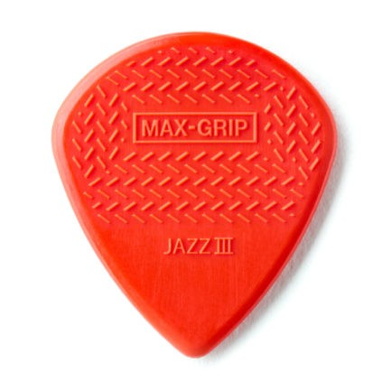 DUNLOP Mediators Max-Grip Jazz III x 6 Nylon