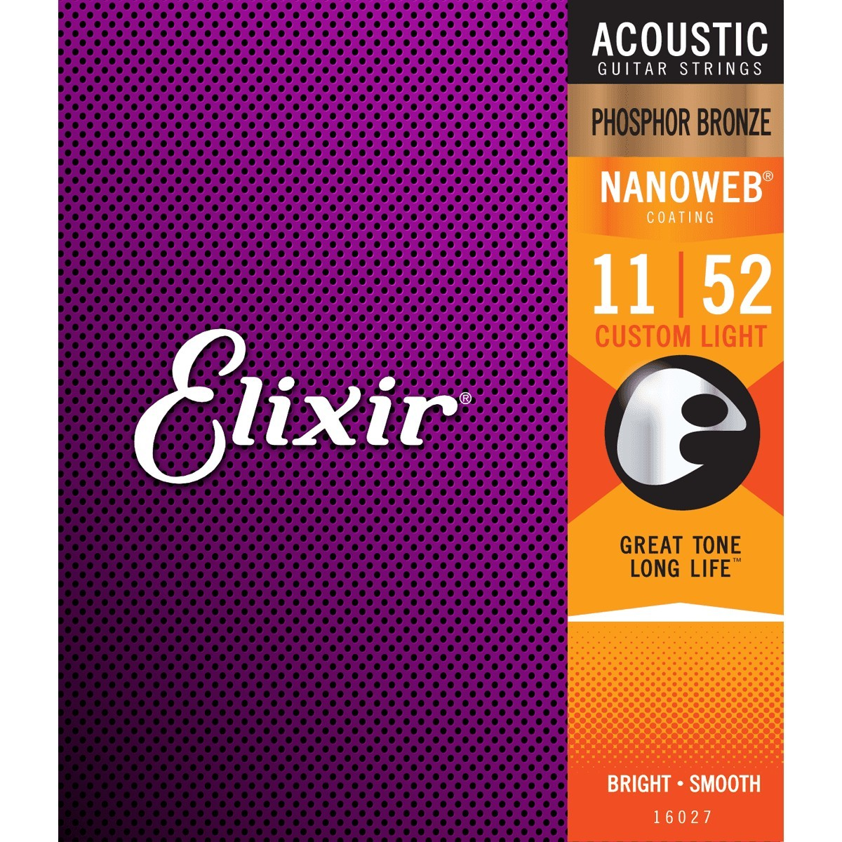 ELIXIR Cordes Acoustiques Nanoweb Phosphor Bronze Jeu Custom Light