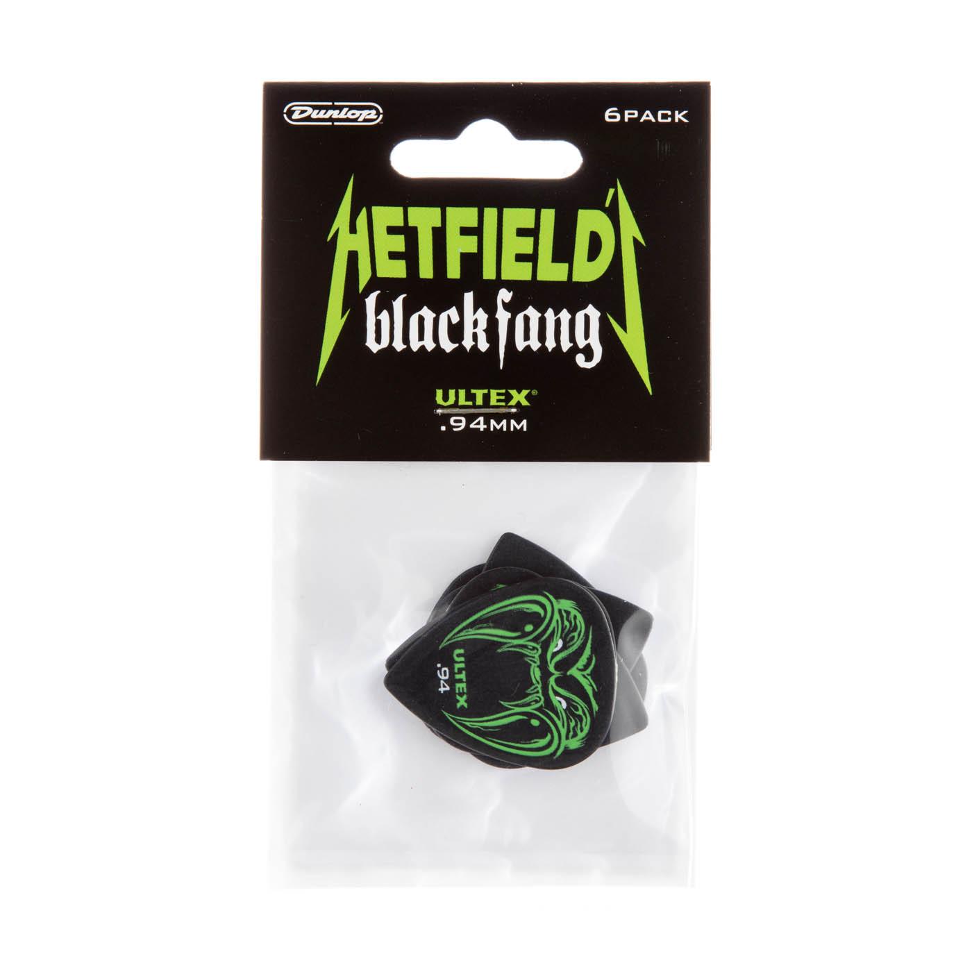 DUNLOP Mediators Ultex Hetfields Black Fang x 6 094 mm