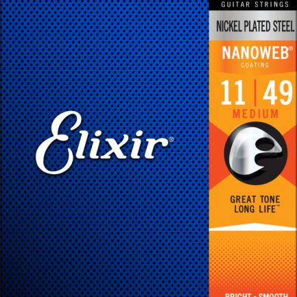 ELIXIR Cordes Électriques Nanoweb Jeu Medium 11-49