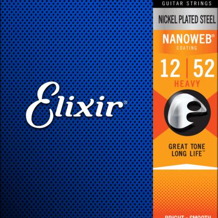 ELIXIR Cordes Électriques Nanoweb Jeu Heavy 12-52