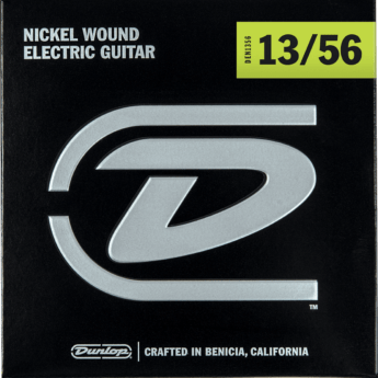 DUNLOP Cordes Electriques Nickel Plated Steel Jeu Extra-Heavy 13-56