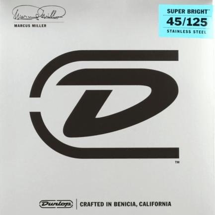 DUNLOP Cordes Basses Marcus Miller Super Bright Jeu 5 Cordes 45-125