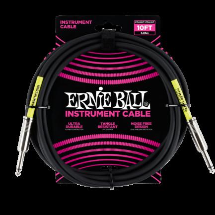 ERNIE BALL Cable Instrument Classic Jack/Jack 3,05 M Noir