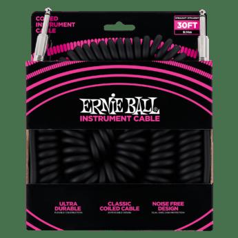 ERNIE BALL Cable Instrument Spirale Jack Jack 9 14 M Noir