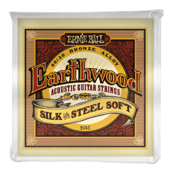 ERNIE BALL Cordes Acoustiques Earthwood Silk And Steel 80 20 Bronze Jeu Soft 11 52