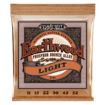 ERNIE BALL Cordes Acoustiques Earthwood Phosphor Bronze Jeu Light 11 52