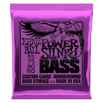 ERNIE BALL Cordes Basses Slinky Nickel Wound Jeu Power Slinky 55 110