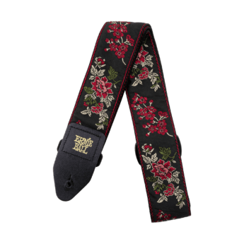 ERNIE BALL Sangle Jacquard Red Rose