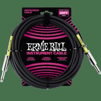 ERNIE BALL Cable Instrument Classic Jack Jack 6 09 M Noir