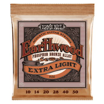 ERNIE BALL Cordes Acoustiques Earthwood Phosphor Bronze Jeu Extra Light 10 50