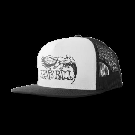 ERNIE BALL Casquette Noire Et Blanche Logo Aigle Noir