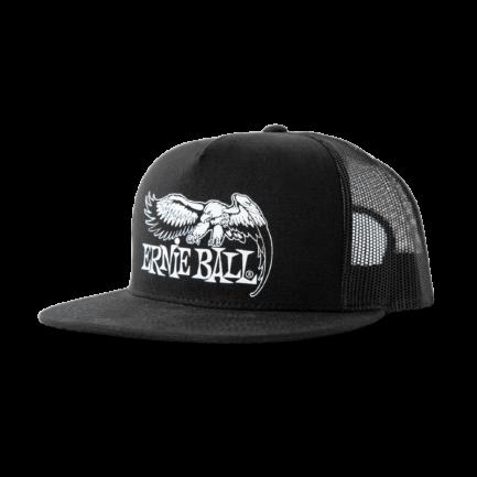 ERNIE BALL Casquette Noire Logo Aigle Blanc