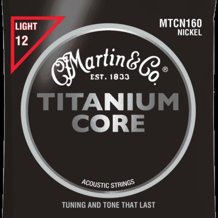 MARTIN Cordes Acoustiques Titanium Core Jeu Light 12 55