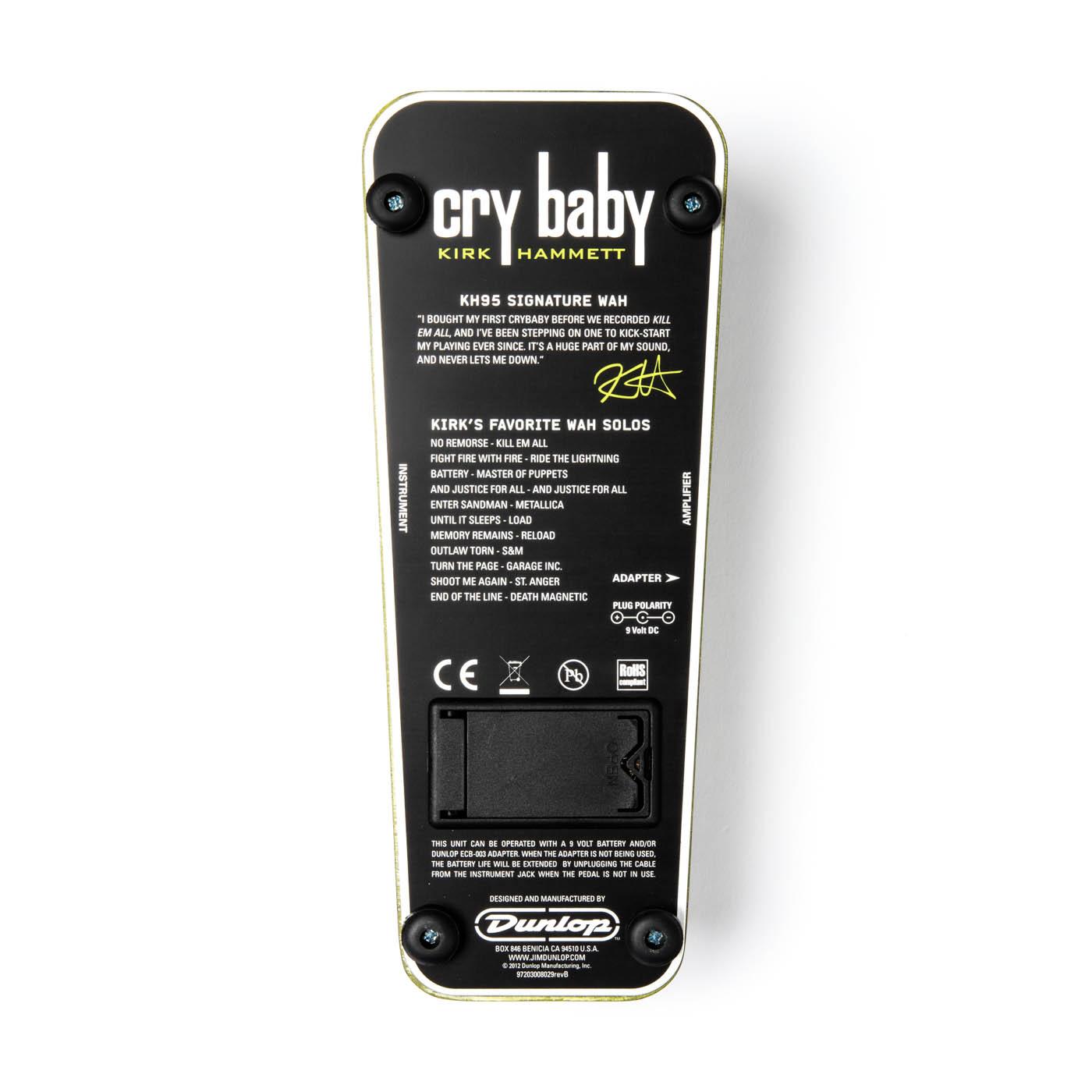 DUNLOP Kirk Hammett Cry Baby Wah