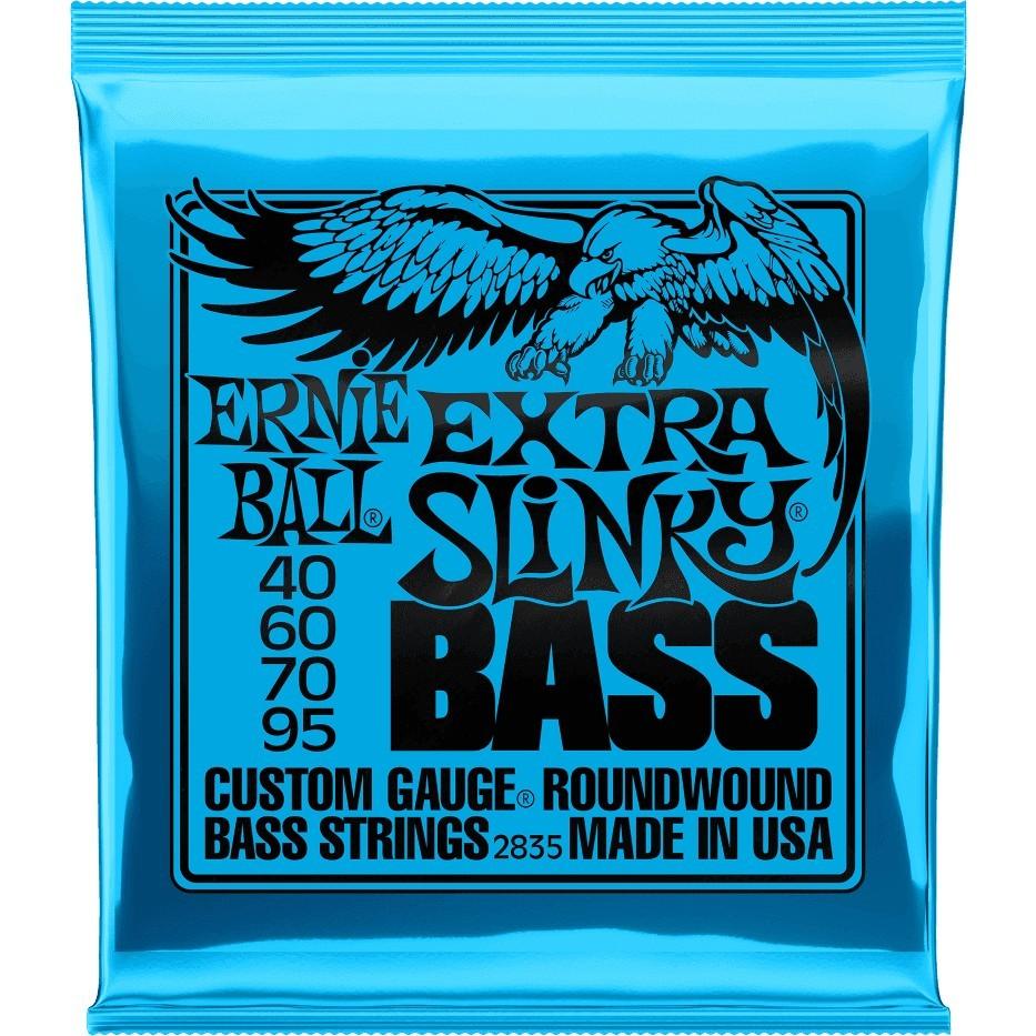 ERNIE BALL Cordes Basses Slinky Nickel Wound Jeu Extra Slinky 40 95