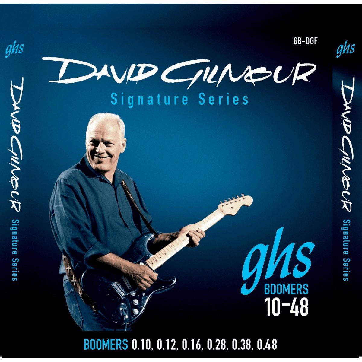 GHS Cordes Electriques Signature File Rond David Gilmour Bleu 10 48