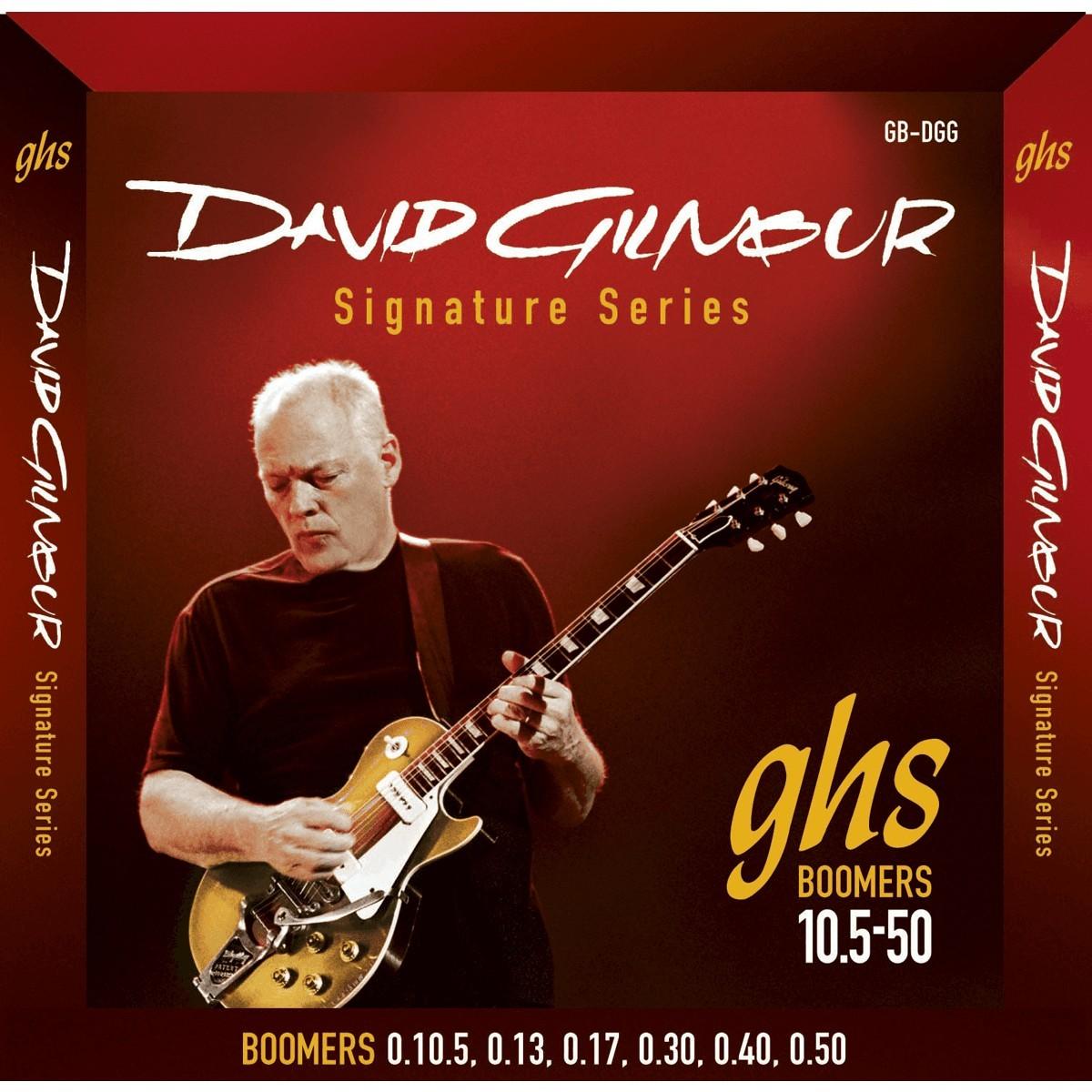 GHS Cordes Electriques Signature File Rond David Gilmour Rouge 10 5 50
