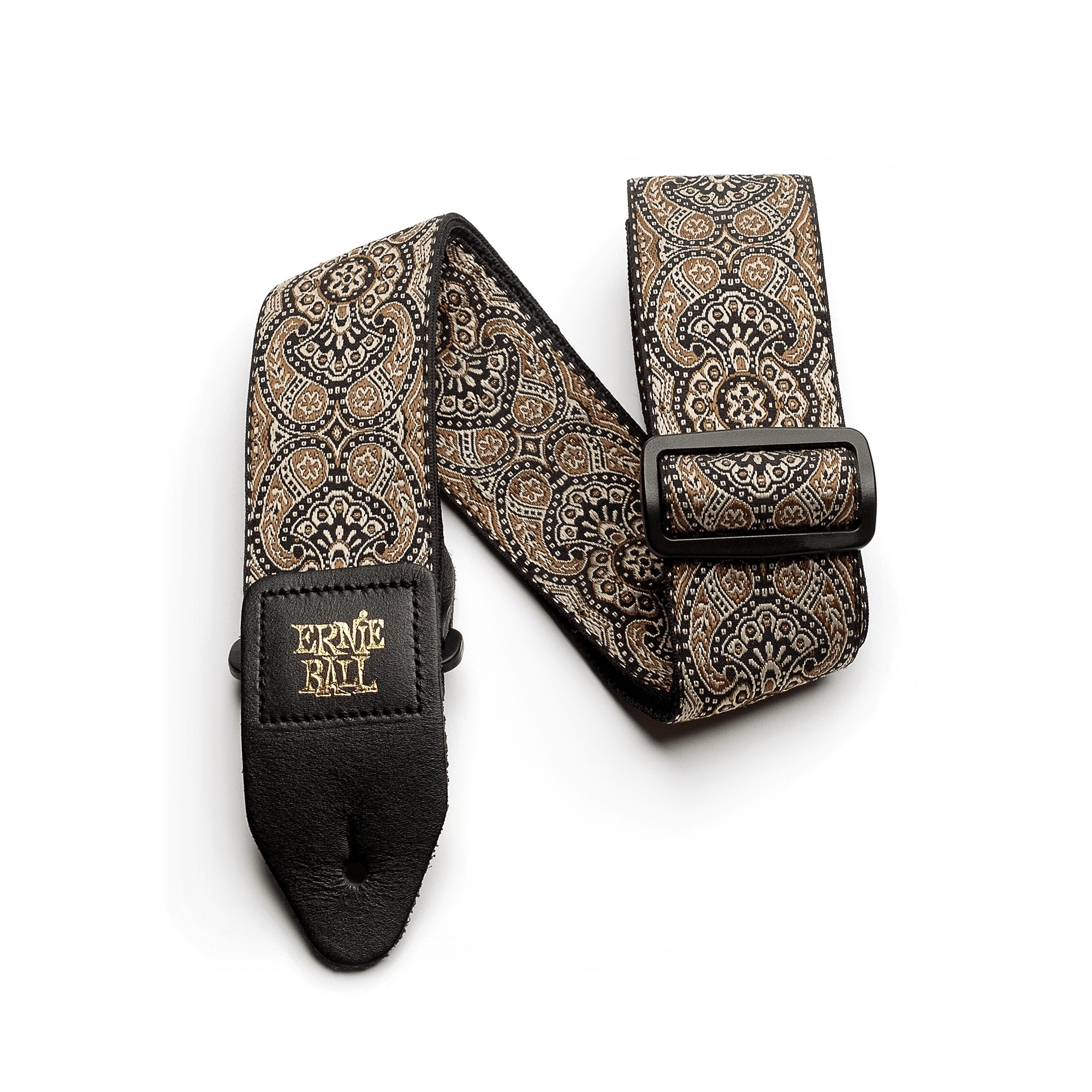 ERNIE BALL Sangle Jacquard Gold And Black Paisley