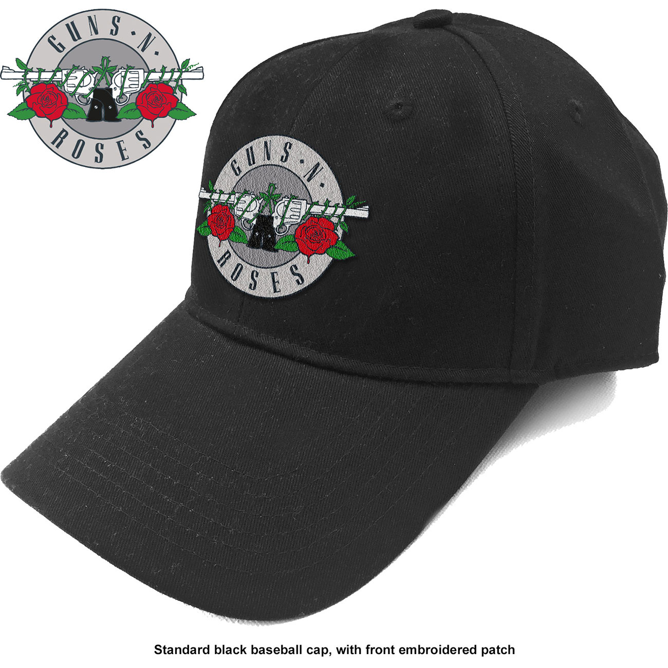 GUNS N ROSES Silver Circle Logo
