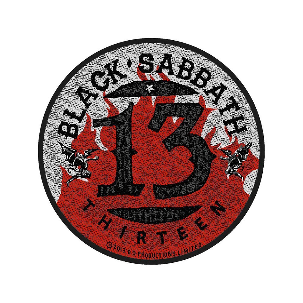 BLACK SABBATH 13 Flames Circular
