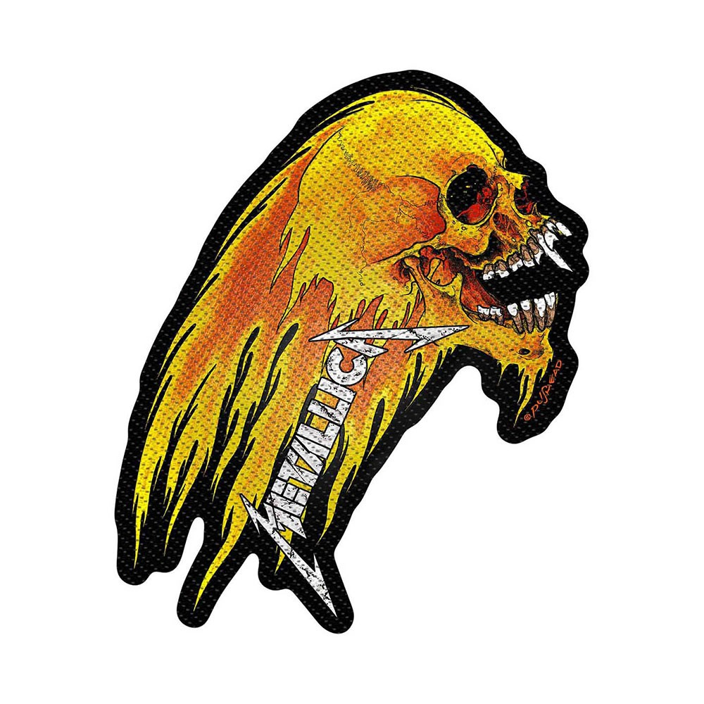 METALLICA Flaming Skull Cut Out
