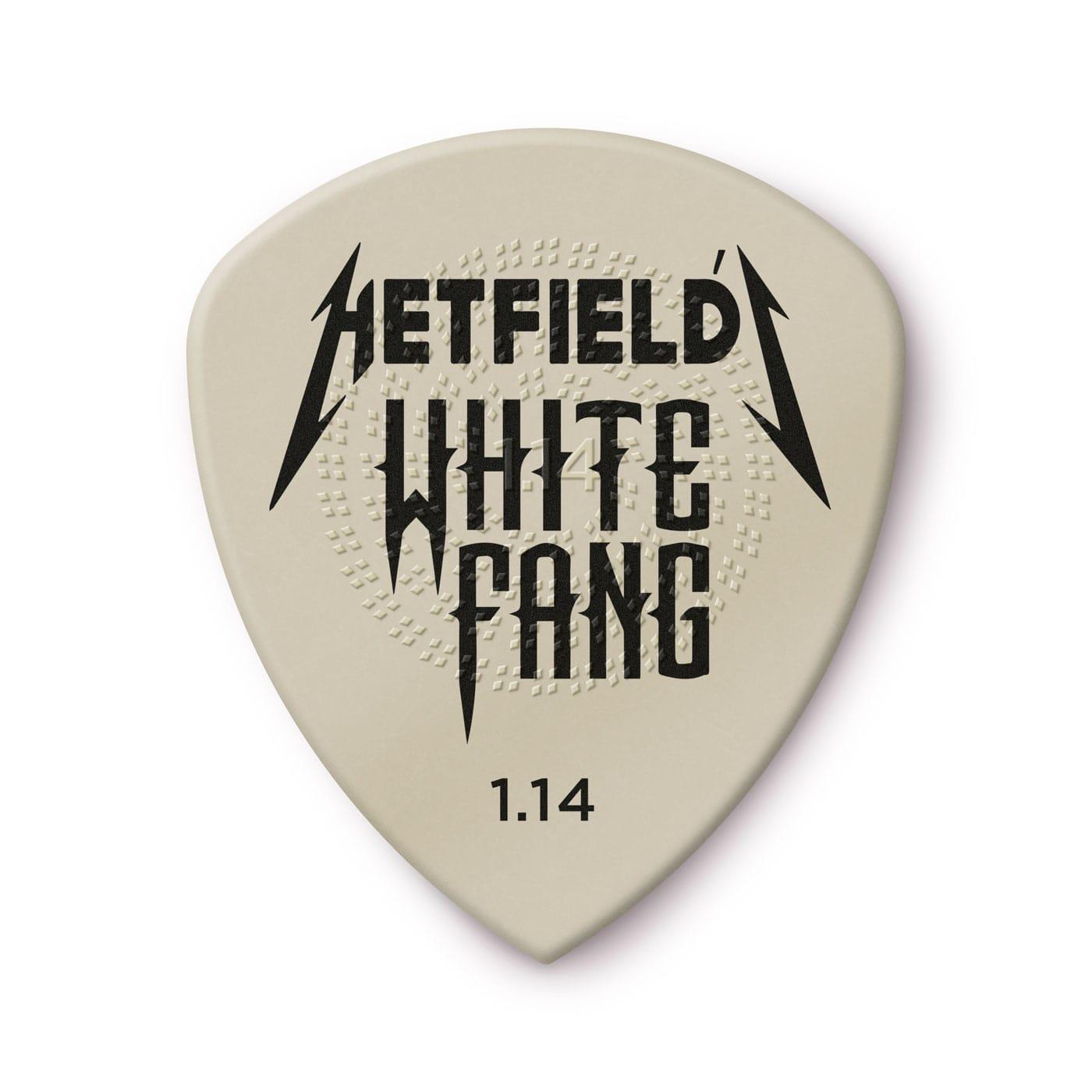 DUNLOP Médiators Custom Flow Hetfield's White Fang