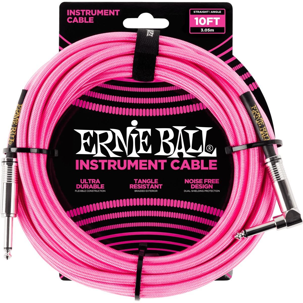 ERNIE BALL Cable Instrument Gaine Tressée Droit-Coudé