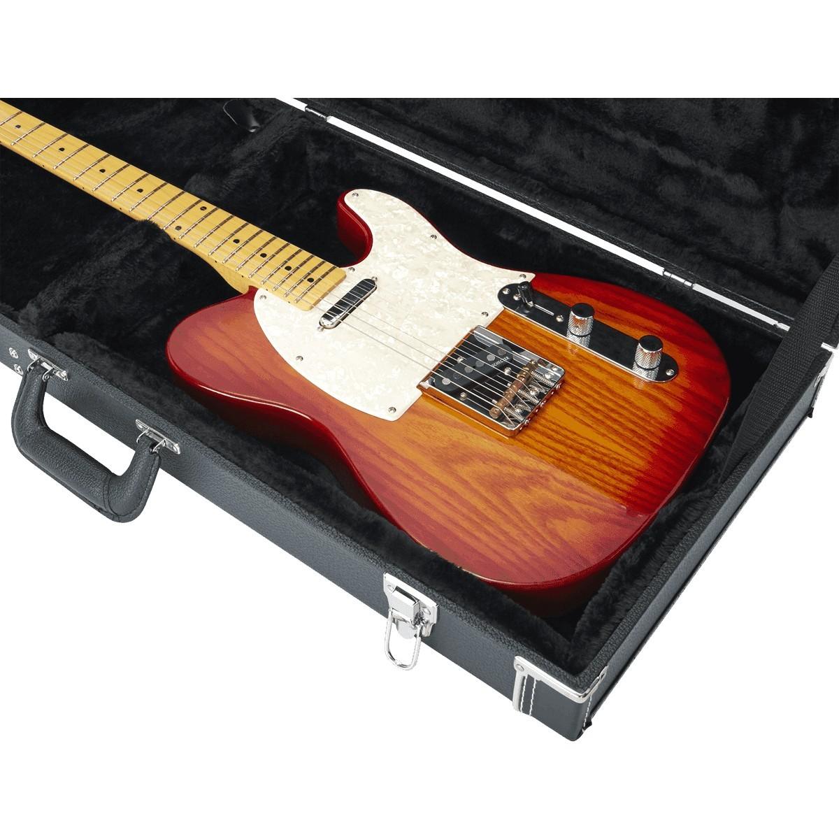 GATOR Etui Guitare Bois Deluxe GW Type Electrique Noir